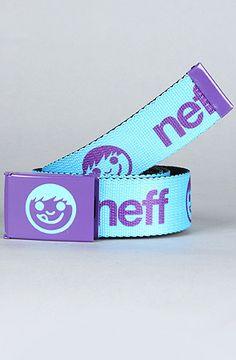 The Logo Belt in Cyan by NEFF #Karmaloop