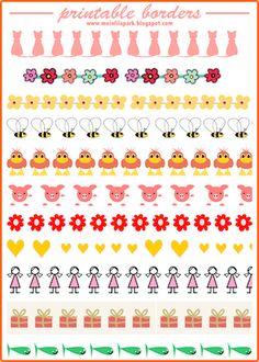 Free printable watercolor planner borders - Geschenkpapier - freebie | MeinLilaPark