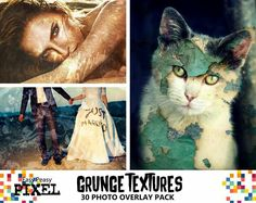 Grunge Textures Photoshop Overlays.  Add some grunge to your photos with this amazing and original texture pack, where you can find wall decal, paint splatters, earth cracks, concrete and many more.   https://www.etsy.com/listing/261391402/grunge-textures-30-pack-photoshop  #grunge #texture #textures #digitalscrapbooking #photoshop #photoedit #photoshopoverlays #overlays #photography #photostudio #photographystudio