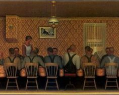 Dinner for Threshers - Grant Wood 1934