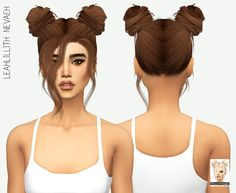 Miss Paraply: LeahLillith`s Nevaeh Hair Retextured  - Sims 4 Hairs - http://sims4hairs.com/miss-paraply-leahlilliths-nevaeh-hair-retextured/
