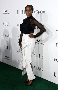 Aja Naomi King in Toni Maticevski - Best Dressed at the 2016 'ELLE' Women in Hollywood Awards - Photos