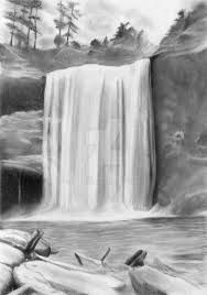 Image result for waterfall drawing Fall Drawings, Pencil Drawings Of Love, Simple Nail Art Designs, Easy Nail Art, Waterfall Drawing, Water Sketch, Building Drawing, Doodle Sketch, Simple Nails