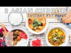 3 INSTANT POT ASIAN CURRIES for #BuzyBeez - YouTube