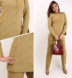 Batik Fashion, Work Fashion, Kebaya, Blazer, Bridal, Formal, Coat, Womens Fashion, Sleeves