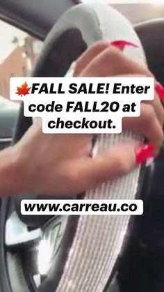 Cute Car Seat Covers, Crystal Dress, Car Interior Decor, Cute Cars, Car Accessories, Car Seats, Card Holder, Coding, Fall