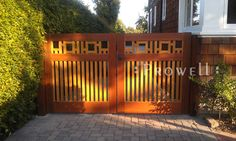 Arts and Crafts Fence Design | he Driveway Gate #20 for this property is an idential match to the ...
