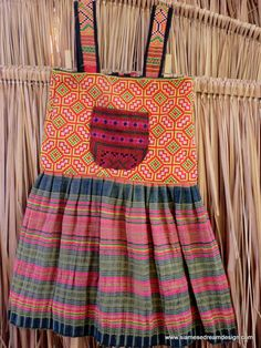 Girls Colorful Boho Dress in Ethnic Hmong by SiameseDreamDesign, $34.00