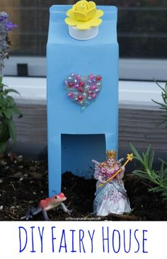 This simple upcycled fairy house craft for kids is a great way to encourage pretend play in the fairy garden!