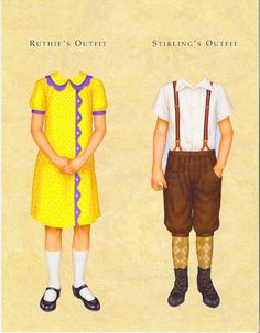 Kit's friends Ruthie & Stirling, 1934: American Girls Paper Dolls by Pleasant Company (14 of 14)