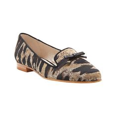 Women's Louise et Cie Anniston Smoking Flat ($99) ❤ liked on Polyvore featuring shoes, flats, casual, casual shoes, flat slip on shoes, louise et cie flats, slip on flats, flat heel shoes and animal print flats