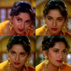 Madhuri Dixit in Hum Aapke Hain Kaun Bollywood Stars, Bollywood Fashion, Bollywood Actress, Madhuri Dixit Saree, Hum Aapke Hain Koun, Film Icon, Vintage Bollywood, Ethereal Beauty, Celebs