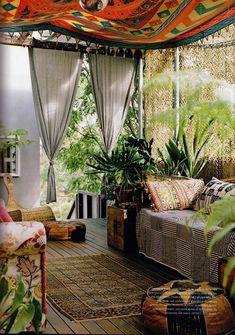 20 bunte Ideen für Ihre gemütliche Gartenterrasse im Bohemian-Style