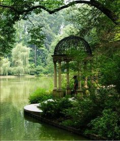 Ruhiger Garten mit Pavillon am Wasser. -Garten-Pavillon-Ideen- Gartengestatung Ruhiger Garten mit Pavillon am Wasser. -Garten-Pavillon-Ideen- , There are various things which can last but not least full a person's garden, such as an existing. The Secret Garden, Secret Gardens, Hidden Garden, Gazebos, Arbors, Garden Pavilion, Garden Gazebo, Garden Pond, Shade Garden