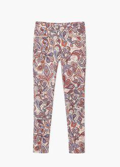 Paisley print trousers | MANGO