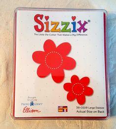 Sizzix 38-0208 Red Flowers Large Daisies Die Cut Scrapbook Provo Craft Ellison #Sizzix