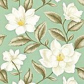 Behang: A Painters Garden, Grandiflora eggshell/bronze Sanderson