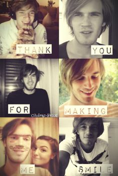 Pewds is my favorite youtuber. He always makes me smile :) thanks a lot pewds