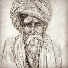 #art #arte #artwork #artstudy #draw #drawing #desenho #dibujo #portraitdrawing #portrait #illustration #ilustração #ilustraçao #ilustracao #pencil #graphite #oldman #oldmen #india #indian #wise #eldest #age #people #ethnic #oriental #turbante #indiano