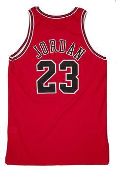 Auction Prices Realized: 1997-98 Michael Jordan Chicago Bulls Game Worn Road Jersey (Bulls LOA) Attributed to Playoff Game 4/29/1998, $38,705.55  #auction #gameused #michaeljordan