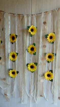 Sunflower Wedding Decor Sunflower Garland Bridal S Sunflower Nursery, Sunflower Room, Sunflower Crafts, Sunflower Party, Sunflower Baby Showers, Sunflower Flower, Sunflower Home Decor, Flower Wall Backdrop, Wall Backdrops