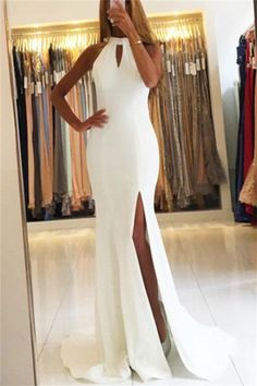Prom Dresses Boho, High Slit Long Mermaid Prom Dresses White Chiffon Evening Dresses Sexy Formal Gowns Party Dresses Backless Shop prom dresses Boho,such as beading prom pieces prom dresses,chiffon prom dress,lace prom dresses Open Back Prom Dresses, Prom Dresses 2018, Long Prom Gowns, Chiffon Evening Dresses, Mermaid Evening Dresses, Cheap Prom Dresses, Sexy Dresses, Evening Gowns, Gowns 2017