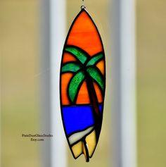 efd215901f77c Stained Glass Surfboard Suncatcher