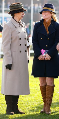 The Princess Royal with daughter-in-law Autumn Phillips