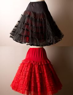 full petticoats. i wanted a red one so badly!