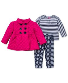 Little Me Baby Girls' 3-Piece Jacket, Shirt & Pants Set