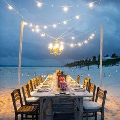 BRIONYMARSH // WE LOVE...Elaborate table settings on secluded beaches in the summertime. Divine. www.brionymarsh.com