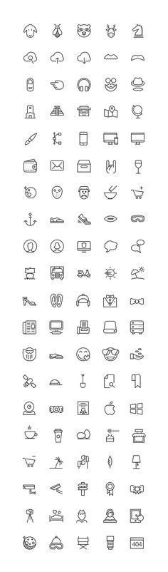 Free Download : Icons Mind – 100 Free iOS 8 Icons