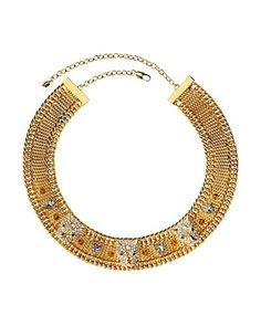 Pave Leopard Mesh Necklace