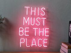 This Must Be The Place Neon Sign For Bedroom Garage Bar Man Cave Room Home Decor Handmade Artwork Wall Lighting Includes Dimmer