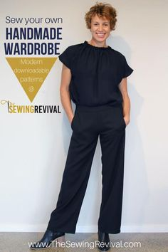Visit The Sewing Revival and see what all the fuss is about. Sewing patterns that are easy enough to ensure success - and different enough to celebrate. #modernsewingpatterns #sewingpatternsforwomen #gatherednecktop