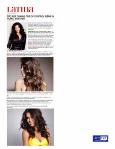 Vaso's Tips for Taming Hair in Summer on Latina.com