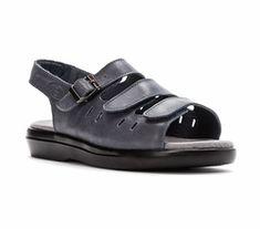 Propet(r) Women's Breeze Sandal - Blue - Size 13 - Narrow Wide Shoes, Open Toe Shoes, New Shoes, Women's Shoes, Luggage Store, Blue Sandals, Slingback Sandal, Handbags On Sale, Luxury Shoes