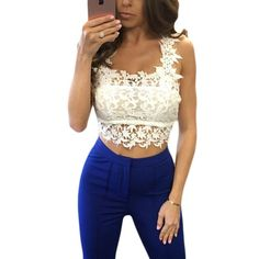 White lace top tees womens summer clothing 2017 new hot selling products online shop china clubwear sexy halter tops H250045