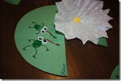 frog + lily pad