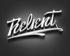 Relient Typography by Vincent Laugier