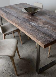 grey shabby chic design table by SUNWOOD