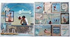 """""""Beach Fun"""" by Collette Mitrega for Kaisercraft (Sandy Toes Collection) - Scrapbook Pages 1."""