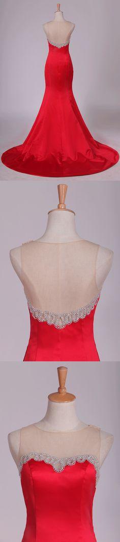 Mermaid Evening Dresses, Custom Made, Satin, Color, Elastic Satin, Colour, Silk Satin, Colors