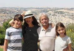 Michael Douglas and Catherine Zeta Jones and their children visiting ISRAEL.