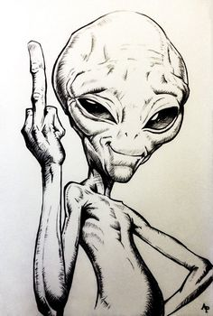 12 Alien-Bleistiftzeichnungen The Effective Pictures We Offer You About crayons para Alien Drawings, Pencil Art Drawings, Art Drawings Sketches, Cartoon Drawings, Cool Drawings, Zombie Drawings, Funny Sketches, Drawing Pictures, Cartoon Images