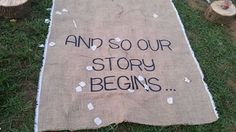 Burlap Aisle Runner And so our story begins by GRITSCreations, $80.00