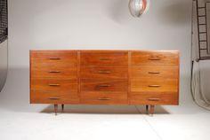 Mid Century Walnut Bullet Dresser by RetrogradeLA on Etsy, $985.00