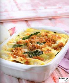 Λαζάνια με λουκάνικα και σπανάκι - Συνταγή i-Food.gr by Giorgio Spanakis