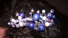 Purples Beaded Hairband