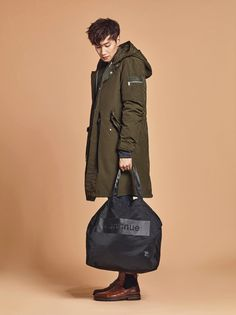 Lee Kwang Soo & Nara couple up for 'Buckaroo' fallwear! Asian Actors, Korean Actors, Running Man Cast, Lee Kwangsoo, Kwang Soo, Korean Entertainment, Nara, Korean Fashion, Military Jacket